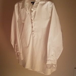 Lands' End white long sleeved collared shirt sz 14